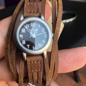 Suede band watch